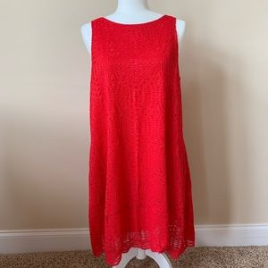1. State red eyelet lace sleeveless shift dress 61